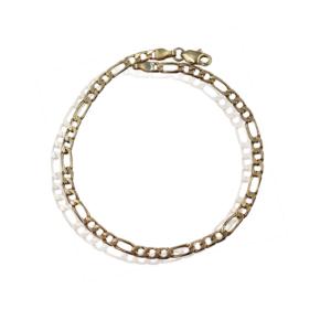 Золотой браслет для мужчин Фигаро модель MB1294
