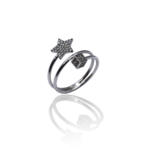 טבעת זהב כוכב דגם WR230