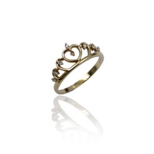 טבעת זהב כתר דגם WR248