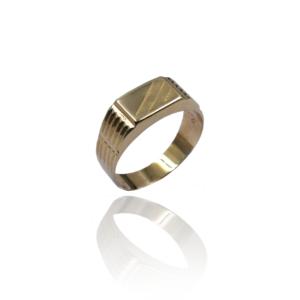 טבעת זהב לגבר דגם MR264