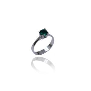טבעת זהב עם אבן אמרלד דגם BR314