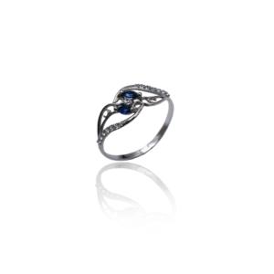 טבעת זהב לבן דגם WR378