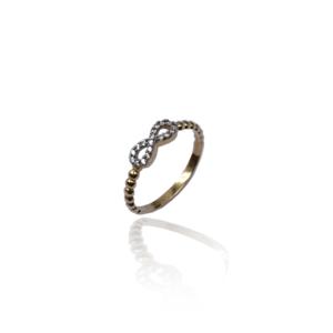 טבעת זהב אינפיניטי דגם WR380