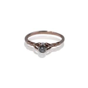 טבעת זהב לאירוסין מעוצבת דגם WBR511