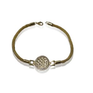 צמיד זהב בעיצוב מיוחד דגם WB610