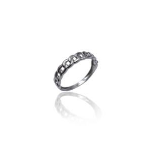 טבעת זהב לבן דגם WR720