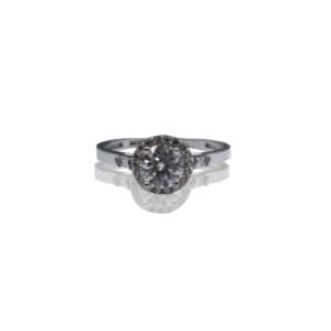 טבעת זהב עם יהלום מואסנייט דגם BR854