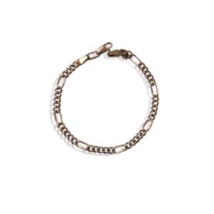 Золотой браслет Figaro для мужчин, модель MB918