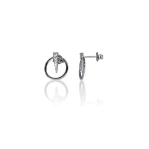 Нежные серебряные серьги модель SE159