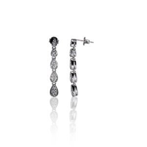 Длинные серебряные серьги Melanie SE342
