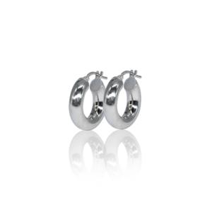 Маленькие серебряные серьги-кольца модель SE323